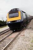 Aproximação do comboio da periferia Fotografia de Stock Royalty Free