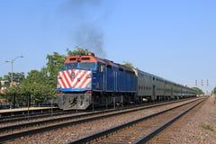 Aproximação do comboio da periferia Imagens de Stock Royalty Free