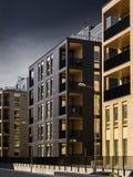 Aproximação escura das nuvens dos bens imobiliários foto de stock