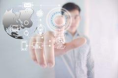Aproximação futura da tecnologia fotos de stock royalty free