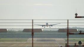 Aproximação Widebody do avião filme