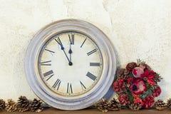 Aproximadamente um ano novo lá era somente cinco minutos Imagens de Stock Royalty Free