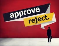 Apruebe el concepto cancelado rechazo de la selección de la decisión imagen de archivo libre de regalías