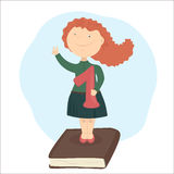 Apruebe el examen Graduado de la escuela stock de ilustración