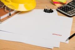 Apruebe en el Libro Blanco fotos de archivo