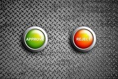 Apruebe y rechace el botón Foto de archivo libre de regalías