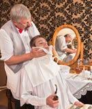 Após o shave Foto de Stock