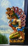 Apsara装饰的上帝雕象 免版税图库摄影
