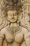 apsara柬埔寨收割雕塑siem 免版税库存照片
