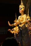 Apsara舞蹈演员 库存照片