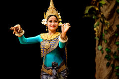 Apsara舞蹈 库存照片