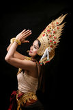 Apsara跳舞画象 库存照片