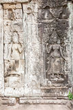 Apsara雕塑 免版税库存照片