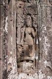 Apsara από την bas-ανακούφιση του ναού Bayon. Καμπότζη Στοκ φωτογραφία με δικαίωμα ελεύθερης χρήσης
