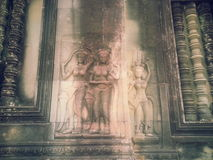 Apsara και devata Στοκ εικόνες με δικαίωμα ελεύθερης χρήσης