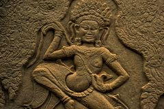 Apsara σε Angkor Wat Στοκ Φωτογραφία