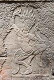 Apsara σε Banteay Kdei, Καμπότζη Στοκ Εικόνες