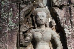 Apsara στον τοίχο της αρχαίας περιοχής Angkor templein Στοκ Εικόνες