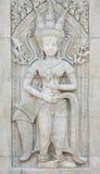 Apsara στον τοίχο Στοκ εικόνα με δικαίωμα ελεύθερης χρήσης
