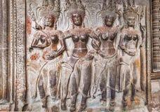 Apsara στον τοίχο Angkor Wat Στοκ εικόνα με δικαίωμα ελεύθερης χρήσης