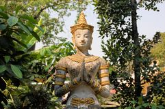 Apsara στο βουδιστικό ναό, Chiang Mai, Ταϊλάνδη Στοκ εικόνα με δικαίωμα ελεύθερης χρήσης