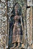 Apsara στο ναό Bayon, Angkor Wat Στοκ Φωτογραφίες