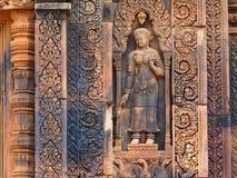 Apsara χορού στον τοίχο σε Angkor Wat Στοκ εικόνες με δικαίωμα ελεύθερης χρήσης
