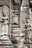 Apsara на виске Prohm животиков, Камбодже Стоковая Фотография