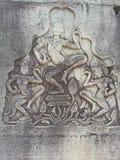 Apsara на стене Стоковое фото RF