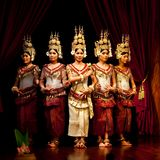 Танцулька Apsara, Камбоджа Стоковое фото RF