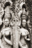 Apsara am Angkor Tempel Lizenzfreie Stockfotos