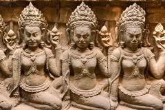 Apsara, Angkor Thom.  cambodia. Stock Photo