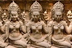 Apsara, Angkor Thom. la Cambogia. fotografia stock