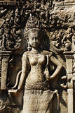 Apsara. Angkor Thom, located in present day Cambodia, was the last and most enduring capital city of the Khmer empire. It was established in the late twelfth Stock Images