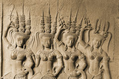 Apsara, Angkor Wat Στοκ Φωτογραφία