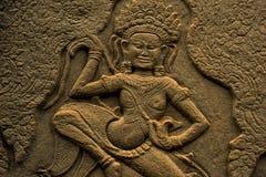 Apsara in Angkor Wat. In Cambodia Stock Photography