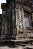 Apsara, Angkor wat, cambodia. Art of Apsara carved on the stone building, Angkor Wat. cambodia Stock Photo