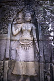 Apsara, Angkor wat, cambodia. Art of Apsara carved on the stone building, Angkor Wat. cambodia Stock Images