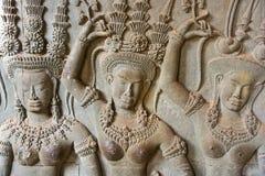 Apsara, Angkor Wat. Cambodia. Royalty Free Stock Images