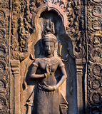 Apsara in Angkor Wat temple Royalty Free Stock Photography