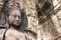Apsara in Angor Wat stock photography