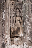 Apsara from bas-relief of Bayon Temple . Cambodia Royalty Free Stock Photography