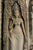 Apsara at Bayon Temple Royalty Free Stock Photography
