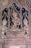 Apsara buddistväggmålning arkivbilder