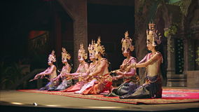Apsara Cambodia Khmer traditional dance and performances. It is a theatre in Cambodia features stock video footage