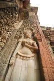 apsara Cambodia przeprowadzać żniwa rzeźby siem Obrazy Royalty Free