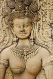 apsara Cambodia przeprowadzać żniwa rzeźby siem Zdjęcia Royalty Free