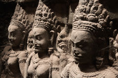 apsara cambodian rzeźby zdjęcie royalty free