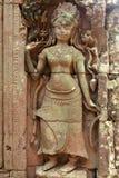 Apsara carving, Angkor wat Royalty Free Stock Photography