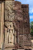 Apsara Carving in Bapuon Temple Royalty Free Stock Photography